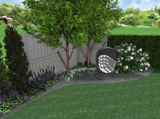 Ogród ze skarpą