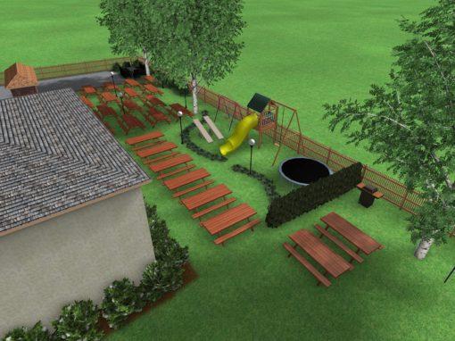 Projekt zagospodarowania terenu wokół smażalni w Mielenku
