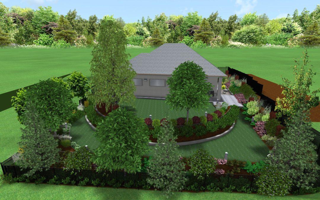 Ogród z układem tarasowym