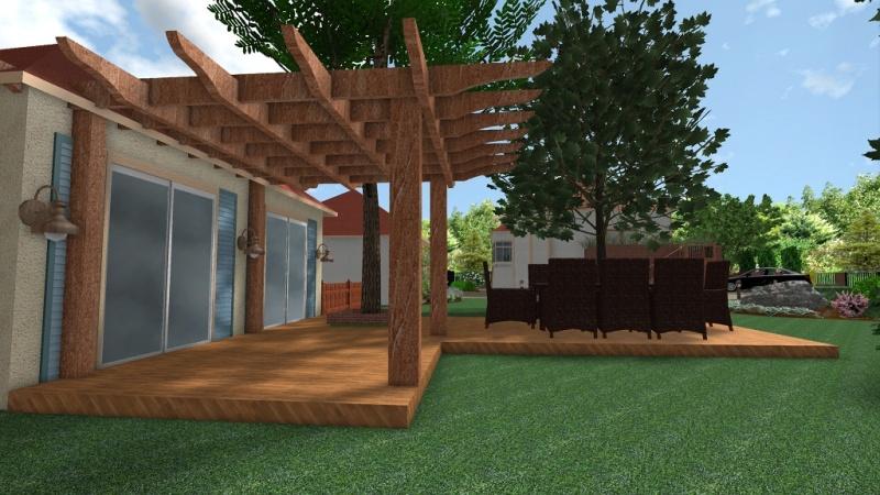 Rekompozycja ogrodu z altaną i letnią kuchnią